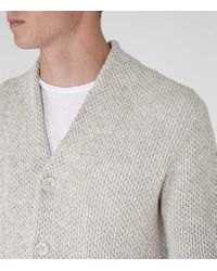 Reiss | Natural Denman Chunky Knit Cardigan for Men | Lyst