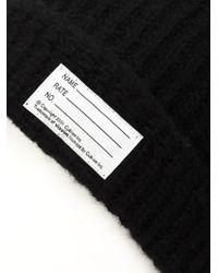 Visvim | Black Knit Beanie for Men | Lyst