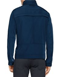 Calvin Klein | Blue Seasonal Zip-front Jacket for Men | Lyst