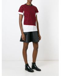 Marc By Marc Jacobs - White Asymmetric Striped T-shirt - Lyst