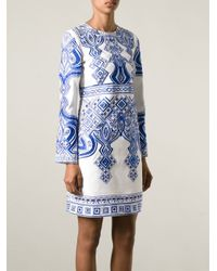 Emilio Pucci - Blue Open Back Embroidered Dress - Lyst