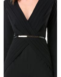 Bebe - Black Samantha Belted Dress - Lyst