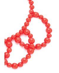 Trina Turk   Orange Drama Bead Necklace   Lyst