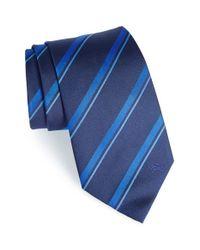 Burberry - Blue 'clinton' Stripe Silk Tie for Men - Lyst