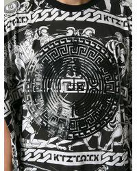KTZ | Black Ancient Greek Print T-Shirt for Men | Lyst