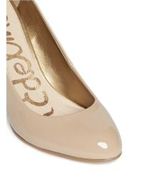 Sam Edelman - Natural Camdyn Patent Leather Pumps - Lyst