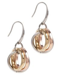DKNY - Metallic Essentials Drop Earrings - Lyst