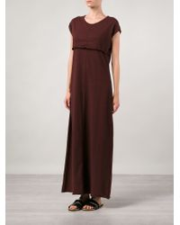 Knomadik by Daniel Patrick - Red Stitching Detail Maxi Dress - Lyst