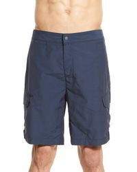 Victorinox - Blue Water Repellent Stretch Hybrid Cargo Shorts for Men - Lyst