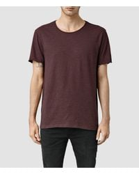 AllSaints | Blue Warn Stripe Crew T-shirt Usa Usa for Men | Lyst
