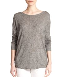 Vince - Gray Textured Sweater Tunic - Lyst