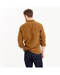 J.Crew | Brown Wallace & Barnes Moleskin Workshirt for Men | Lyst
