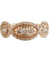Ileana Makri - Champagne Diamond Pink Gold Triple Solitaire Ring - Lyst