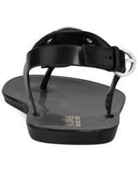 Michael Kors | Black Michael Plate Jelly Sandals | Lyst