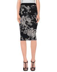 Les Copains - Black 3/4 Length Skirt - Lyst