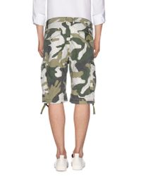 DIESEL - Green Bermuda Shorts for Men - Lyst