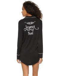 Wildfox | Black I Only Get Up For Rose Robe | Lyst