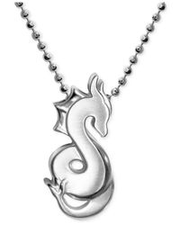Alex Woo | Metallic Little Dragon Zodiac Pendant Necklace In Sterling Silver | Lyst