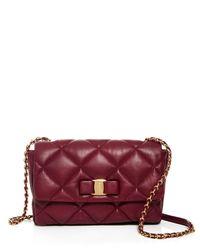 Ferragamo | Red Shoulder Bag - Gelly Quilted | Lyst