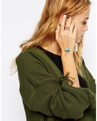 ASOS - Blue Triangle Hand Harness - Lyst