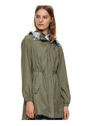 Tory Burch | Natural Anorak With Plaid Lining | Lyst