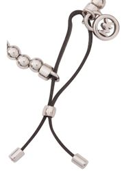 Michael Kors | Metallic Silver Tone Beaded Bracelet | Lyst