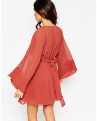 ASOS | Skater Dress With Flared Sleeves | Lyst