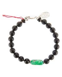 Aaron Jah Stone | Black Root Chakra Bracelet | Lyst