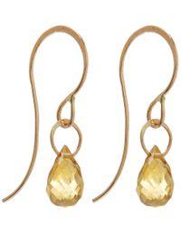 Melissa Joy Manning - Metallic Small Gold And Citrine Single Drop Earrings - Lyst