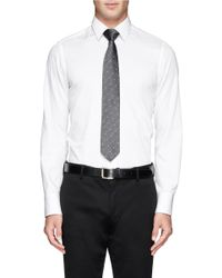 Drake's - Gray Mini Dot Silk Tie for Men - Lyst