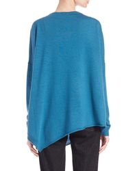 Eileen Fisher | Blue Merino Wool Asymmetrical Sweater | Lyst