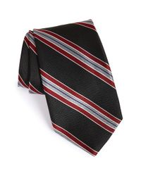 Nordstrom - Black 'downhill Skier' Stripe Silk Tie for Men - Lyst