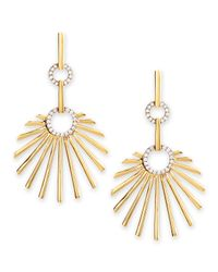 Frederic Sage - 18K Yellow Gold Retro Sun Earrings With Diamonds - Lyst