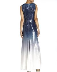 Peter Som - Blue Ombrã© Sequin Gown - Lyst