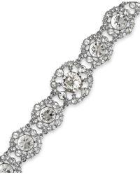 kate spade new york - Metallic New York Silvertone Crystal Statement Bracelet - Lyst