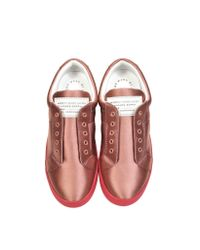 Marc By Marc Jacobs | Pink Blush Satin Sneaker | Lyst
