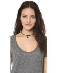 Vanessa Mooney - Black The Pusher Choker Necklace - Lyst