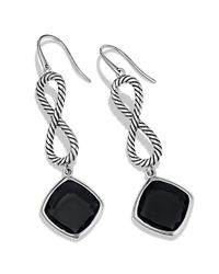 David Yurman | Black Confetti Figureeight Drop Earrings with Onyx | Lyst