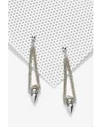 Nasty Gal | Metallic Spearheader Pyrite Earrings | Lyst