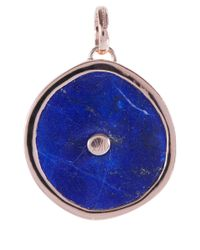 Monica Vinader | Blue Rose Gold Vermeil Lapis Atlantis Eye Pendant | Lyst