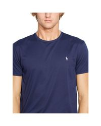 Ralph Lauren - Blue Performance Crewneck T-shirt for Men - Lyst