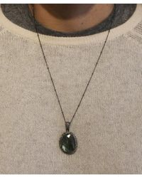 Adornia   Green Champagne Diamond And Labradorite Teresa Necklace   Lyst