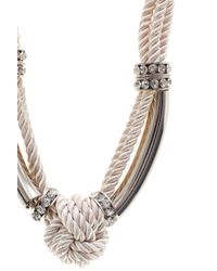 Coast - Pink Maris Knot Necklace - Lyst