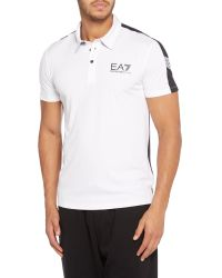 EA7 - White Ventus Tennis Logo Polo Regular Fit Polo Shirt for Men - Lyst