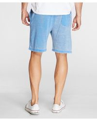 Threads For Thought - Blue Burnout Sweat Short for Men - Lyst