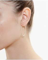 Rosa De La Cruz - Metallic Small 18k Rose Gold Hoop Earrings - Lyst