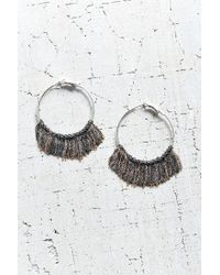 Urban Outfitters | Metallic Jessica Chain Hoop Earring | Lyst