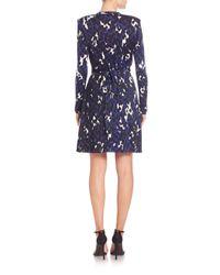 Issa - Blue Jersey Wrap Dress - Lyst