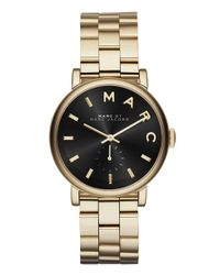 Marc Jacobs | Metallic 'baker' Bracelet Watch | Lyst