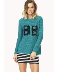 Forever 21 - Blue Fresh 88 Sweater - Lyst